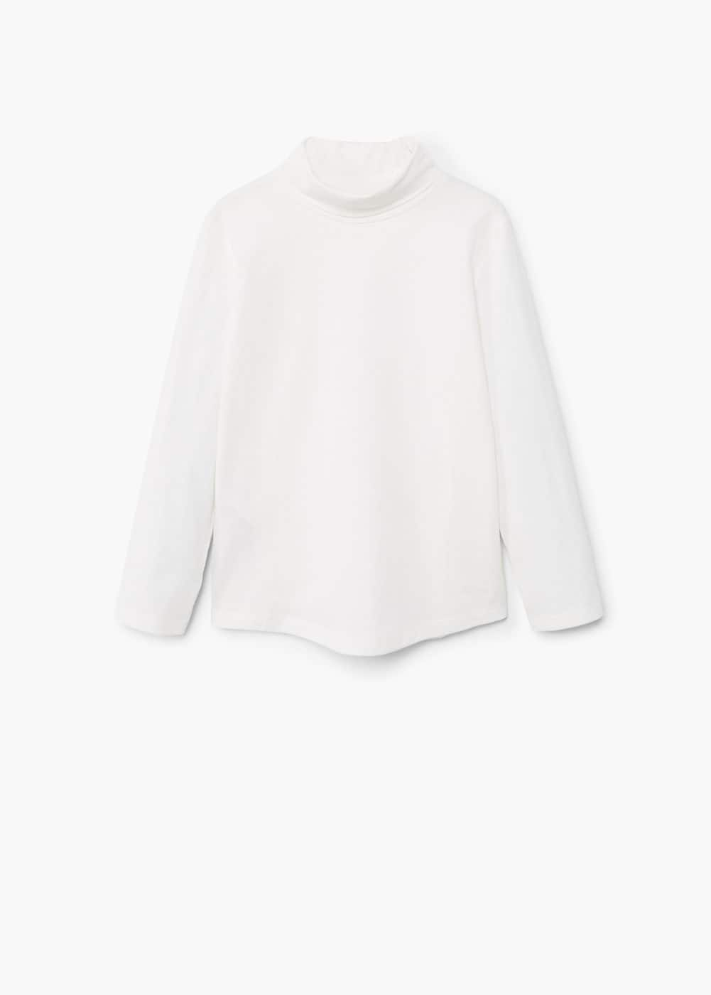 Turtleneck cotton t-shirt | MANGO