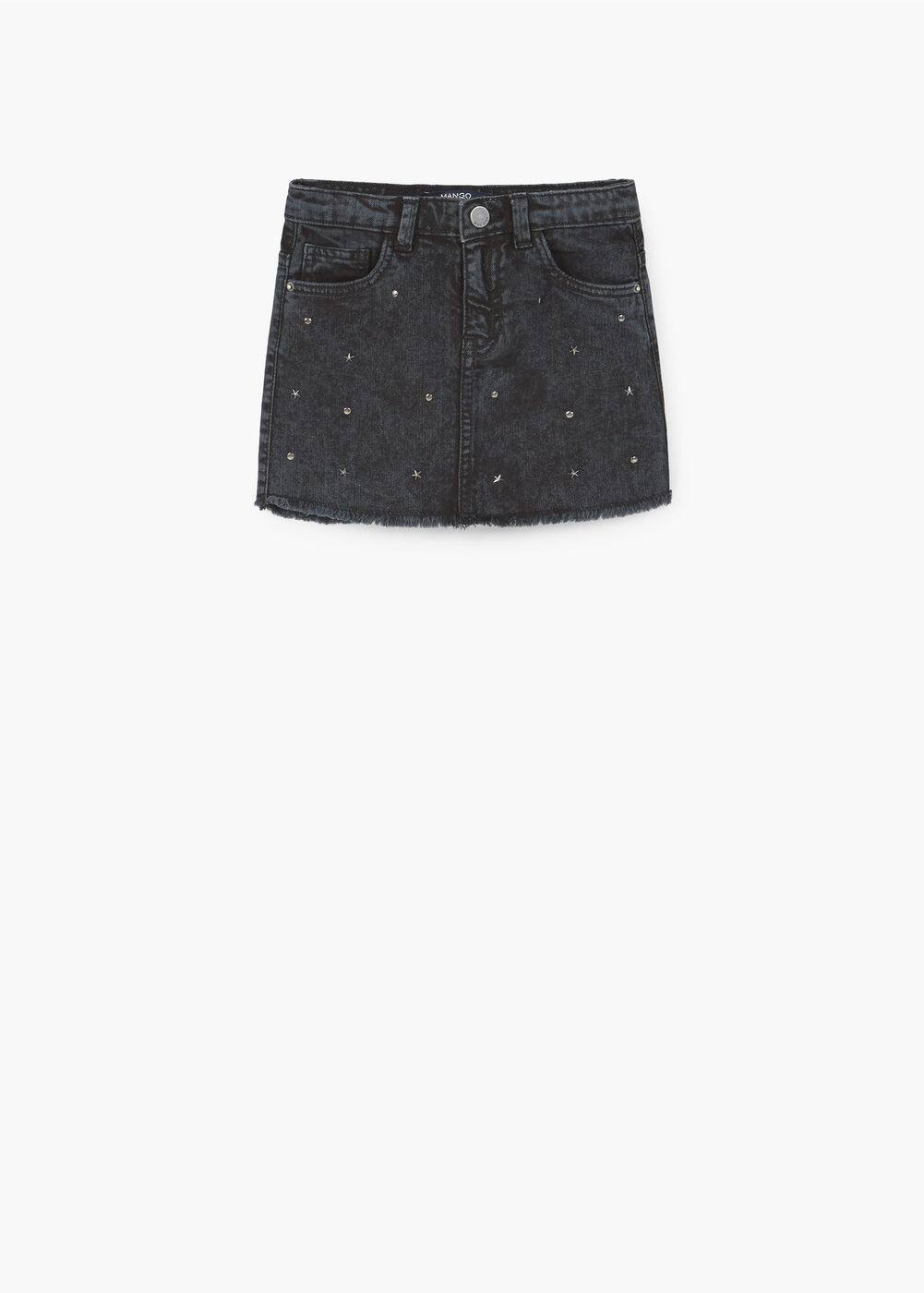 Decorative stud skirt | MANGO KIDS