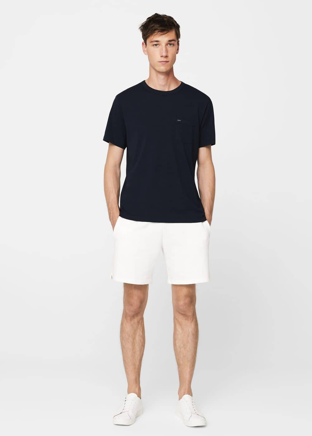 Cotton jogging bermuda shorts | MANGO MAN