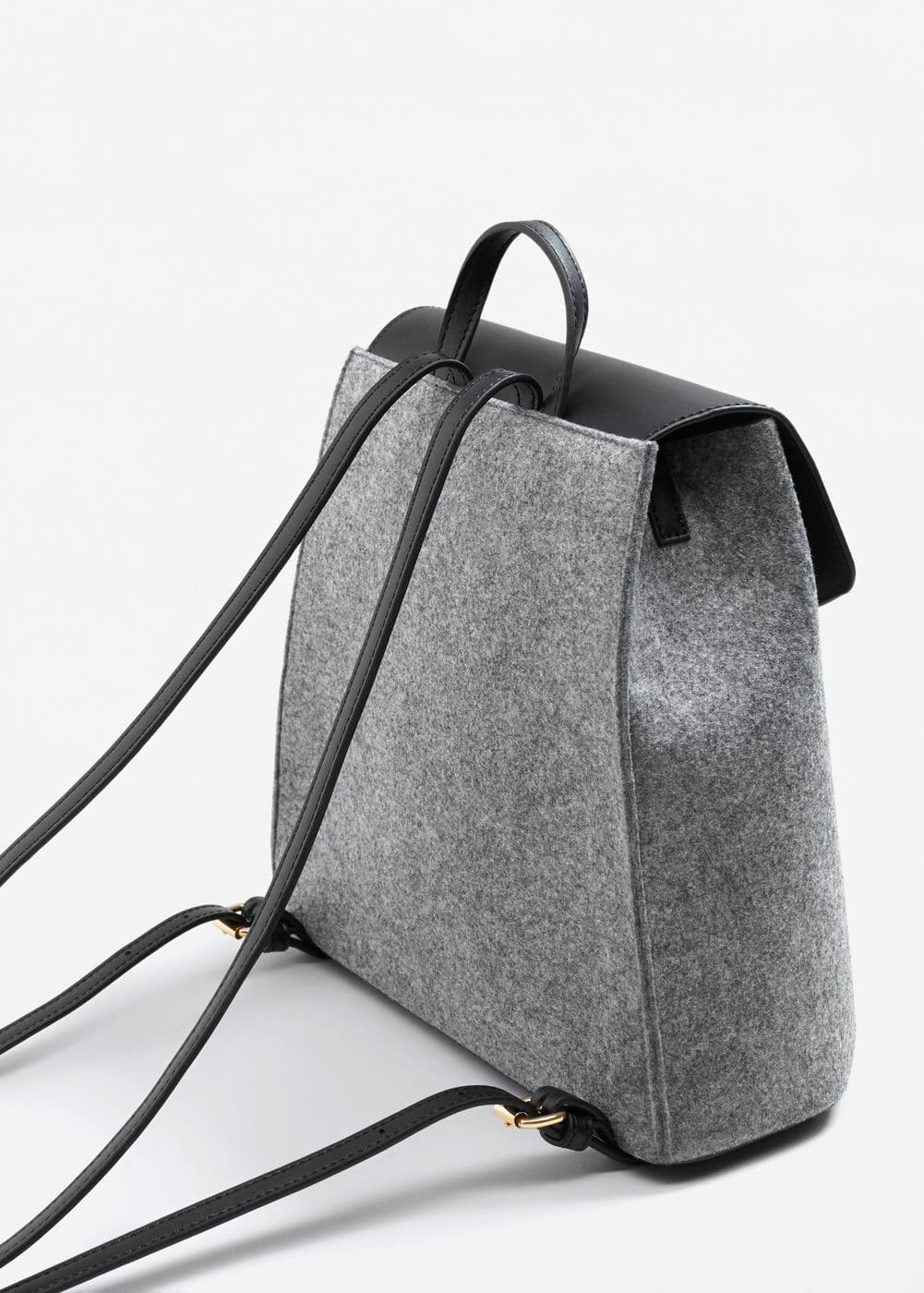 Lapel mixed backpack | MANGO