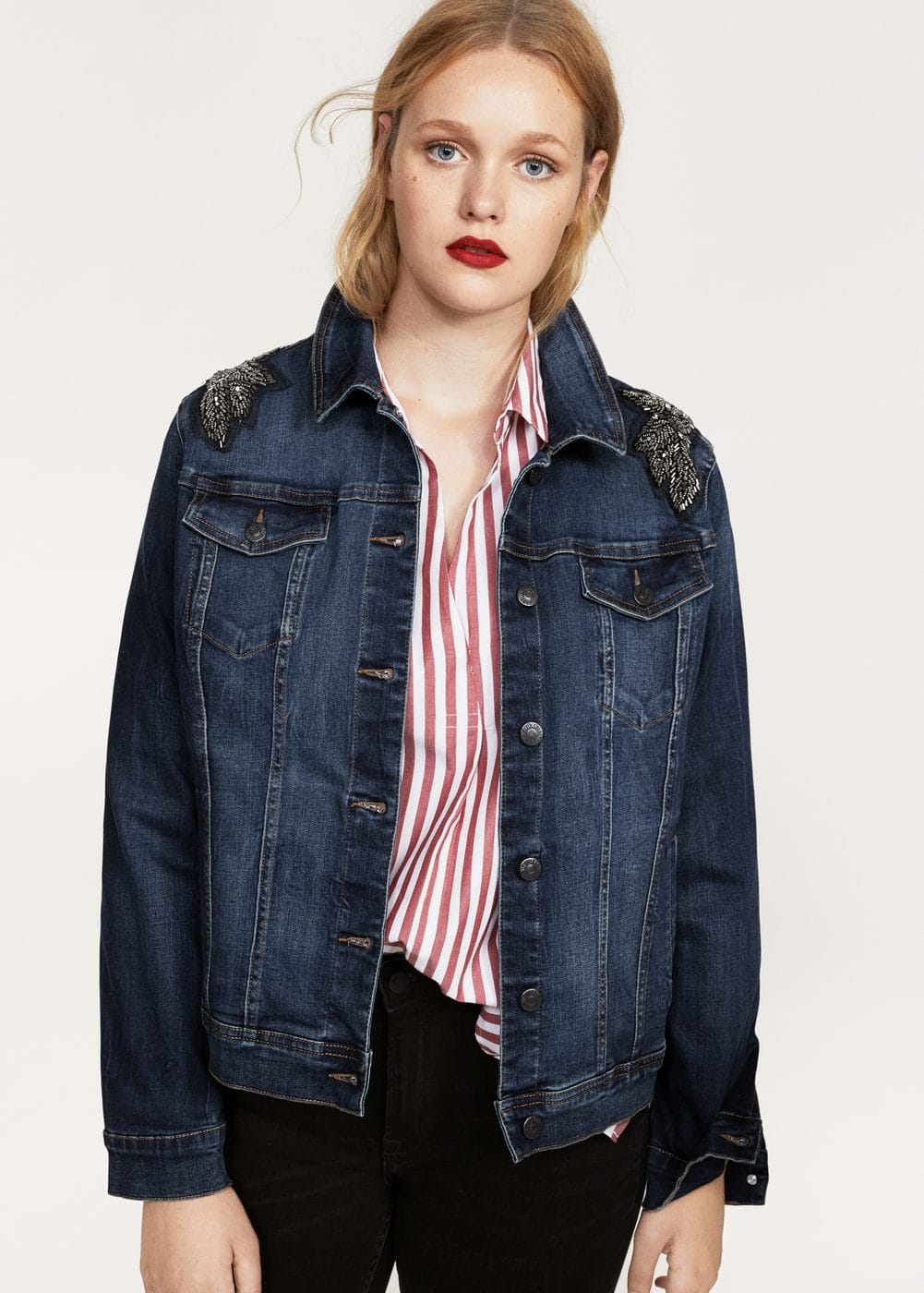 Blouson denim ornements | MANGO