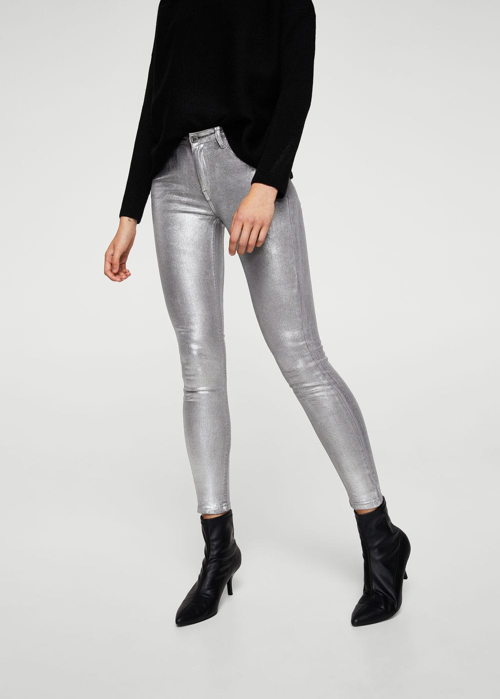 Skinny coated jeans | MANGO