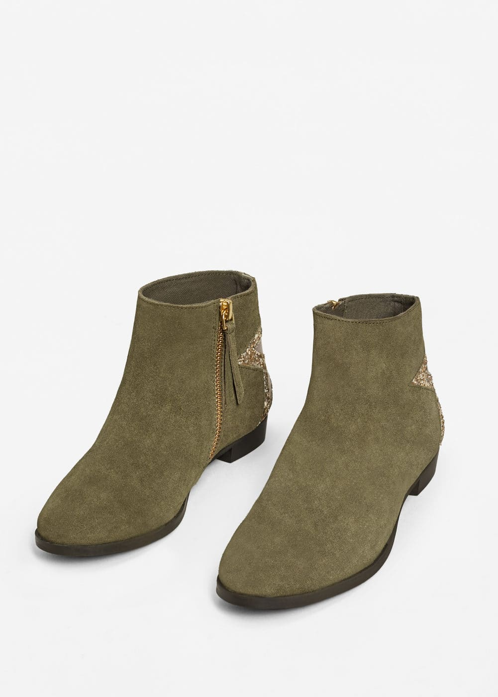 Star suede ankle boots | MANGO