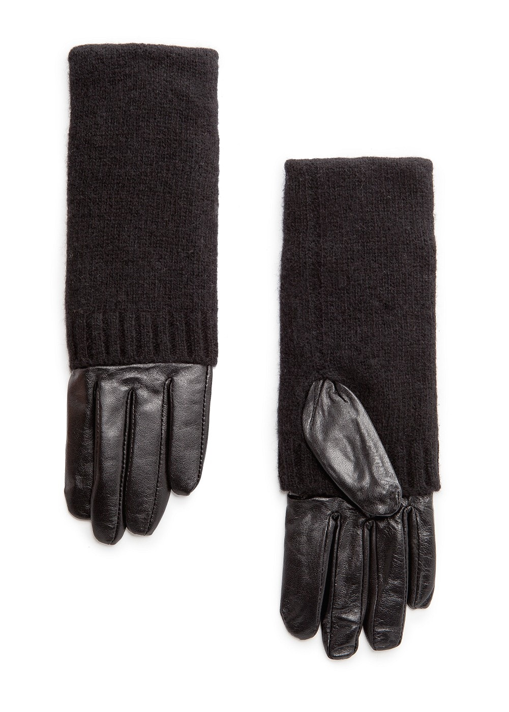 Combi leather gloves | MANGO