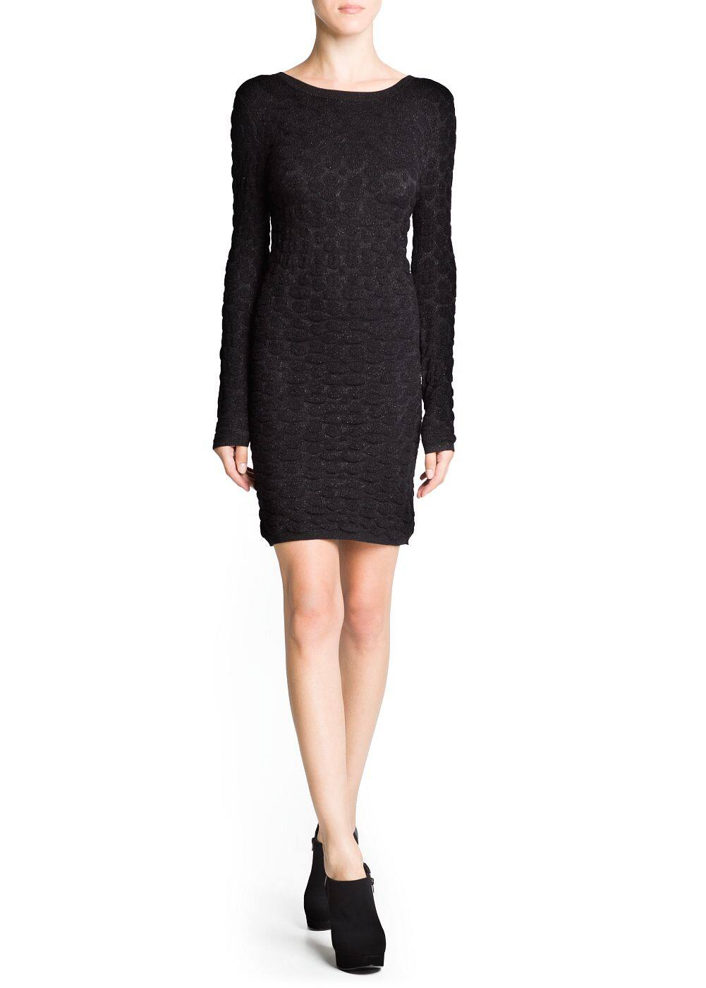 Knit jacquard dress | MANGO