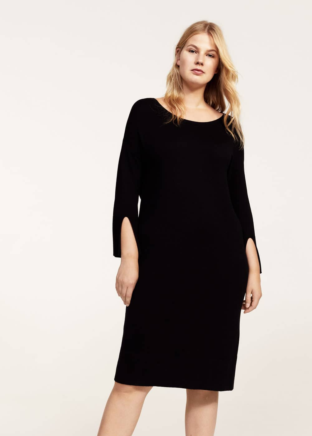 Wool-blend ponte dress | MANGO