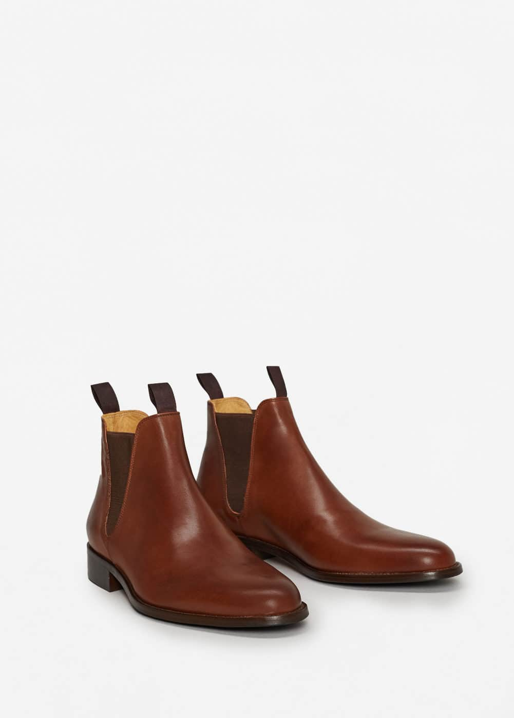 Leather chelsea ankle boots | MANGO