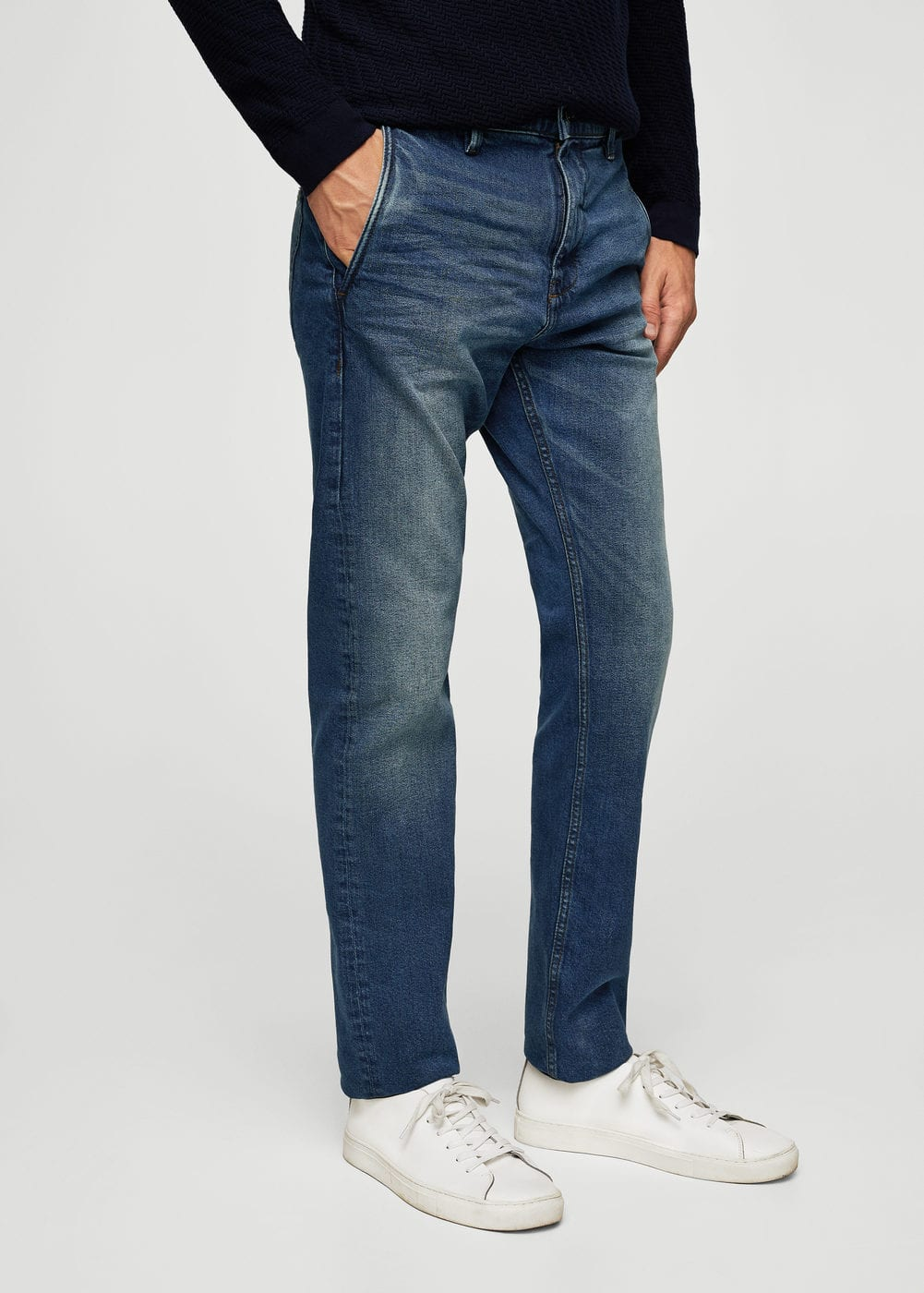 Slim-fit vintage wash jeans | MANGO