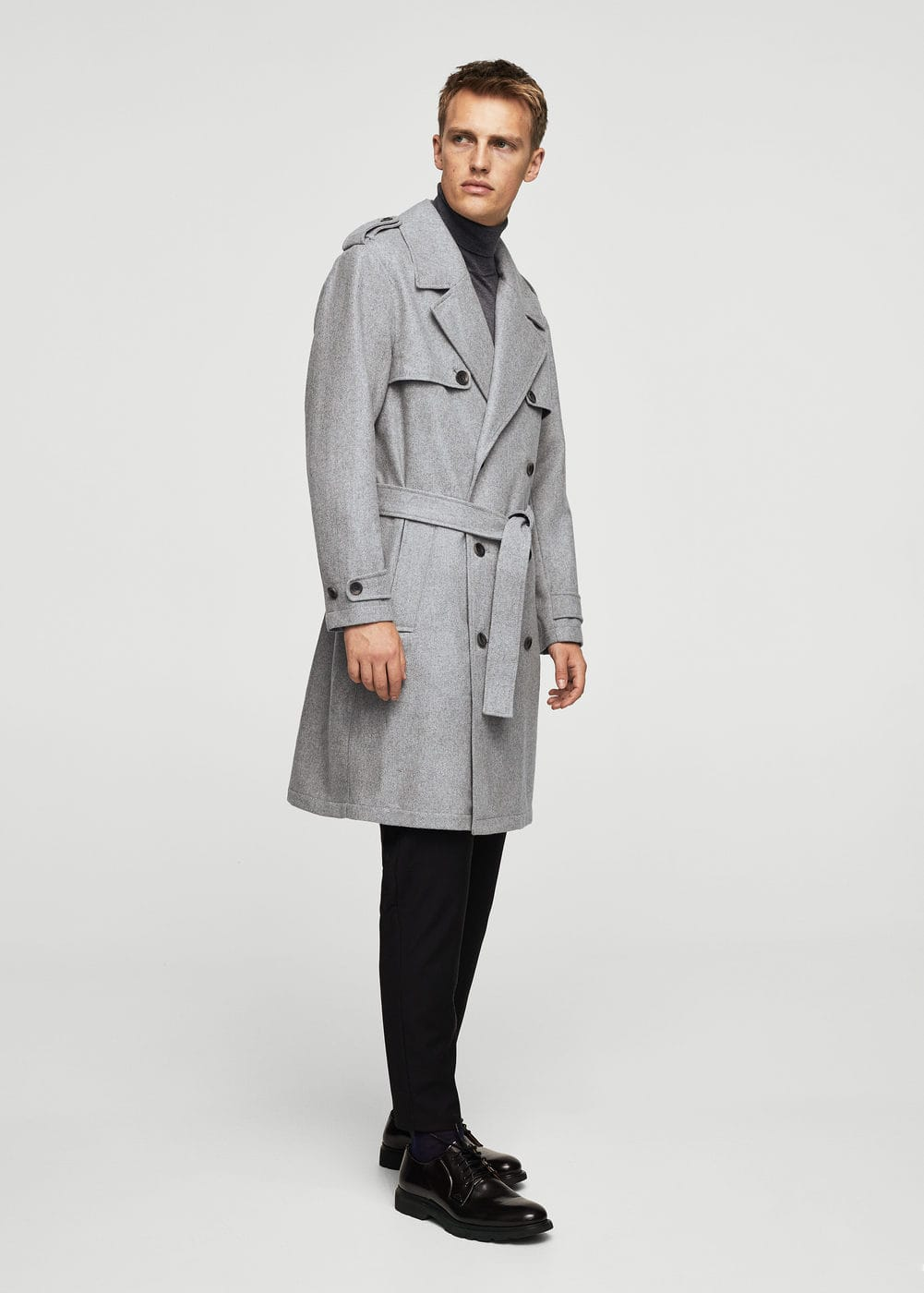 Lapels wool trench | MANGO MAN
