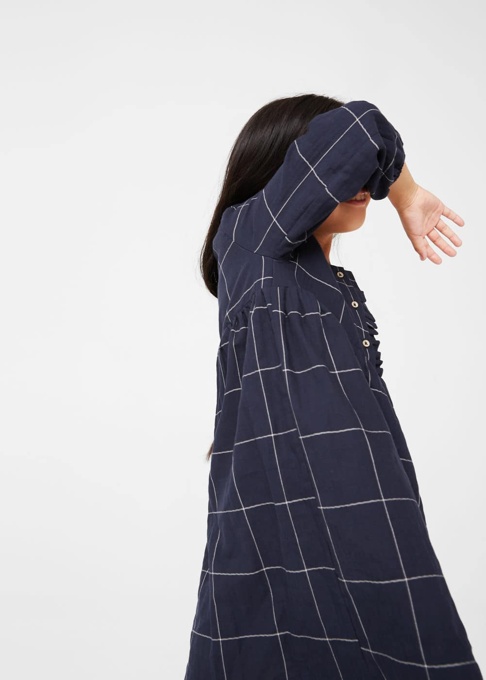 Checked cotton dress | MANGO