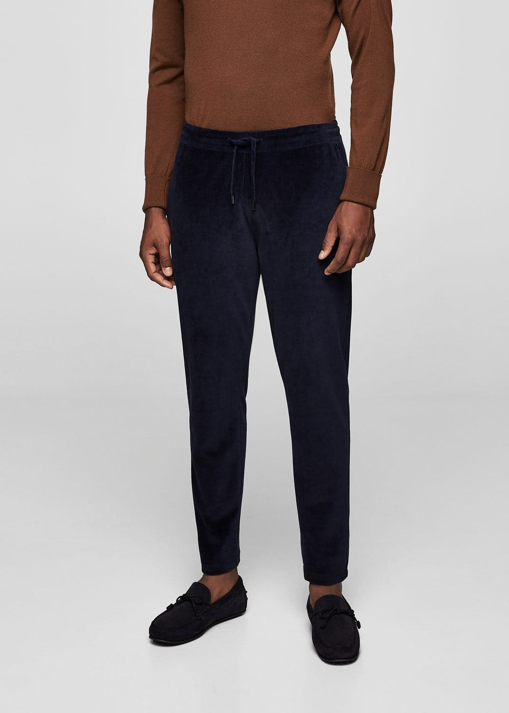 Velvet jogging trousers | MANGO MAN