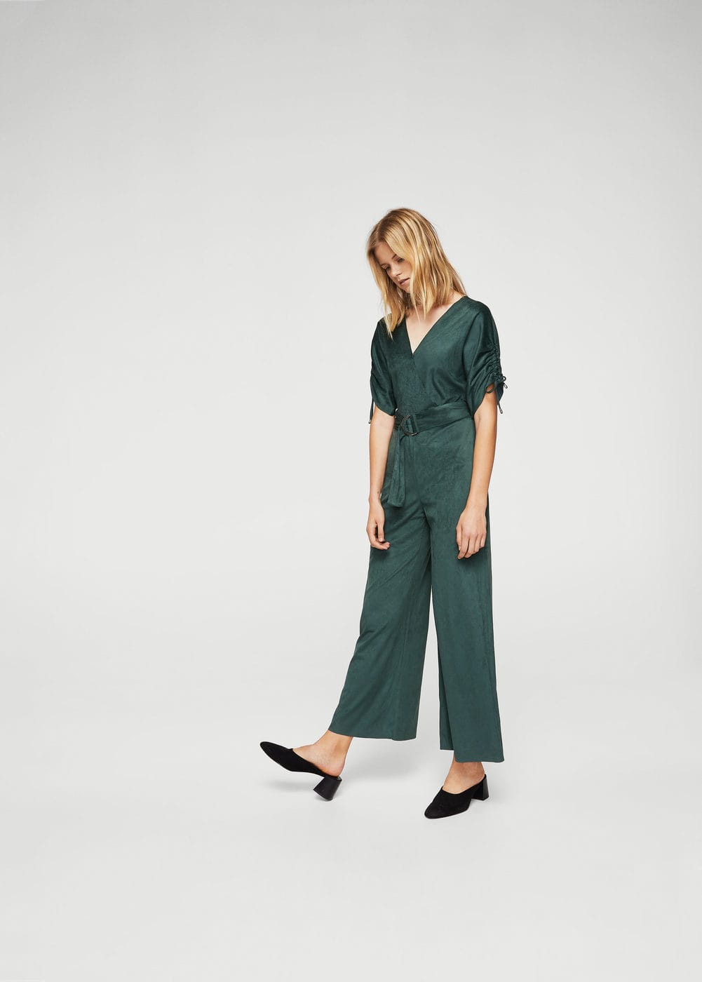 Ruched sleeve jumpsuit | MANGO