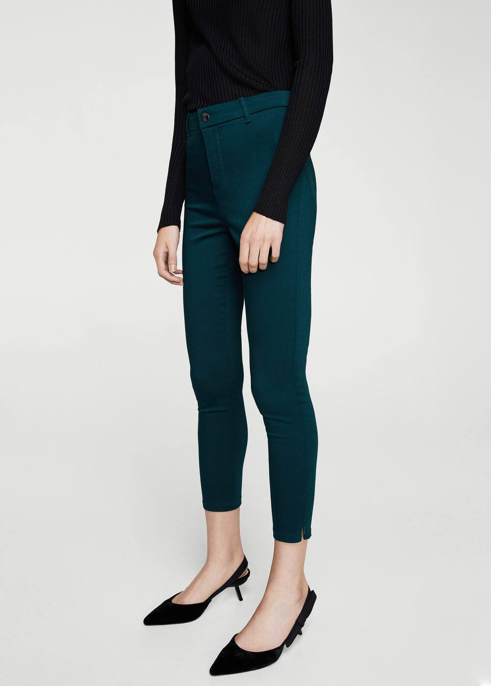 Zip-pocket slim-fit trousers | MANGO
