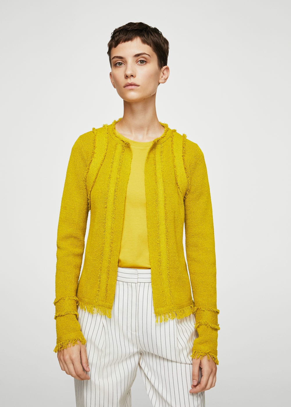 Frayed edges jacket | MANGO