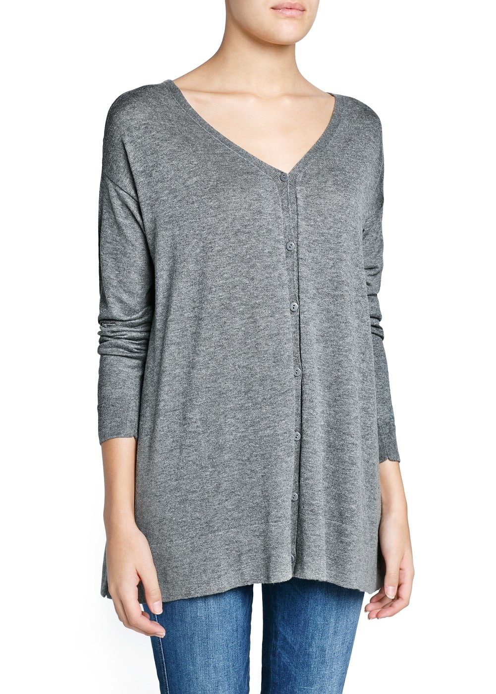 Silk cotton-blend oversize cardigan | MANGO