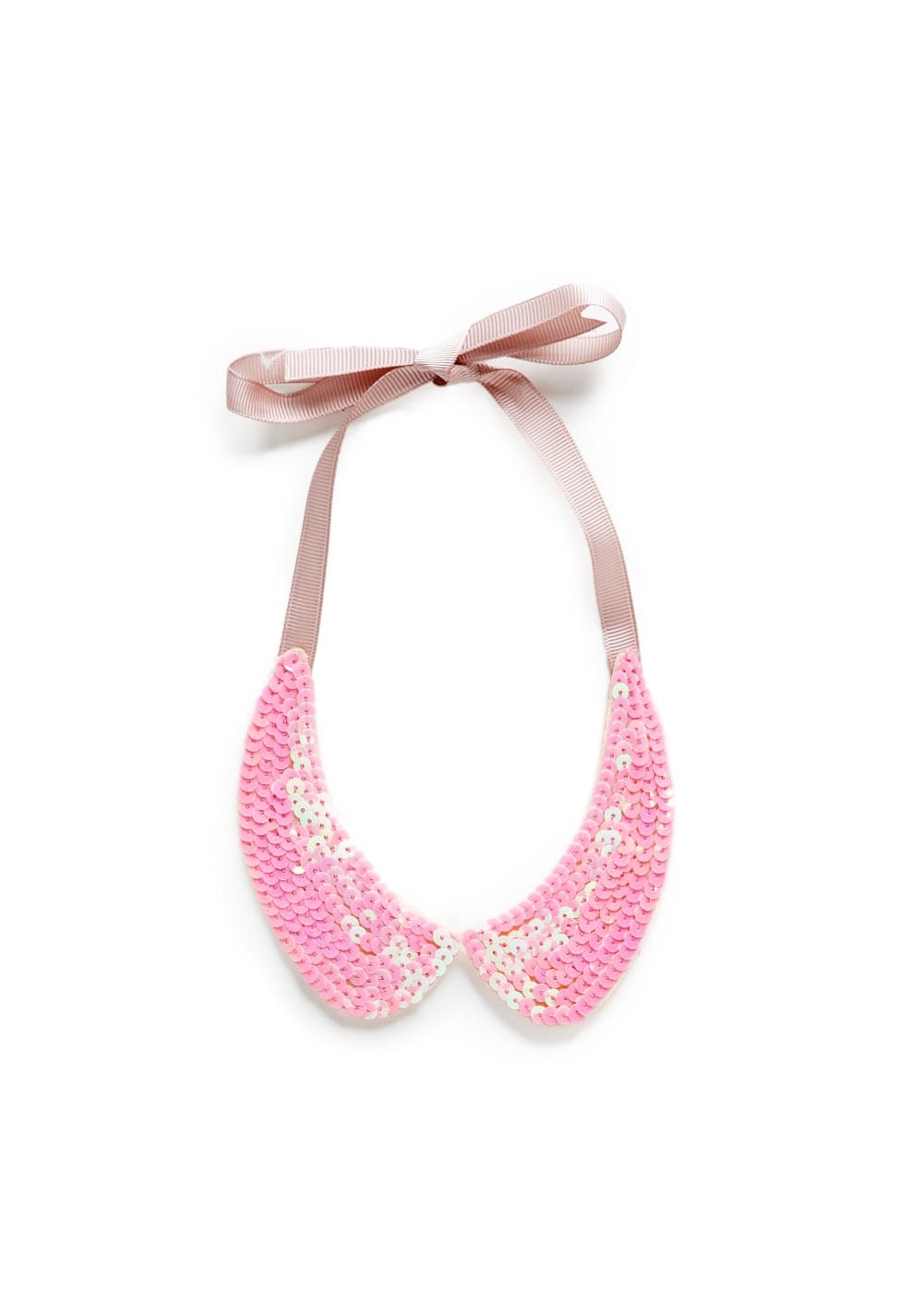 Sequined bib necklace | MANGO KIDS