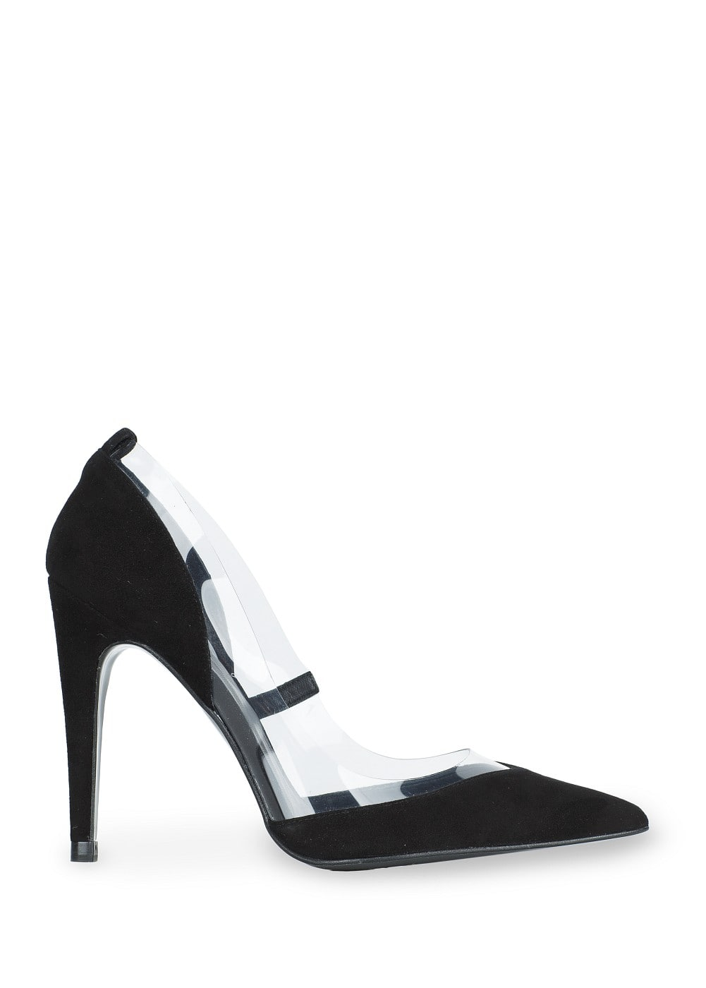 Premium - suede and vinyl stiletto shoes | MANGO