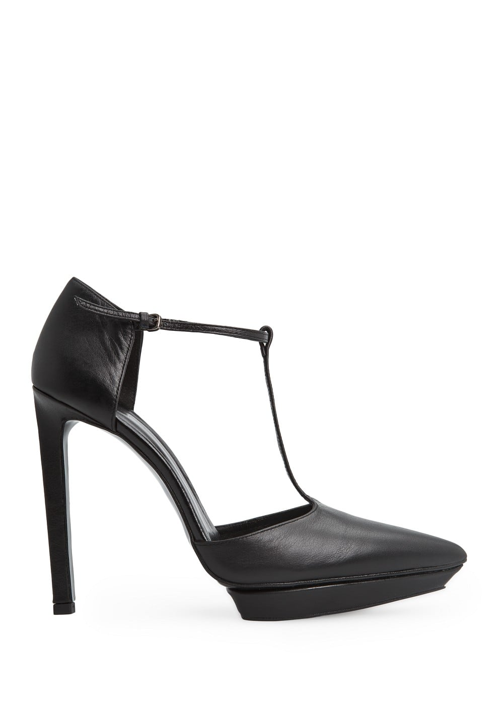 T-bar leather pumps | MANGO