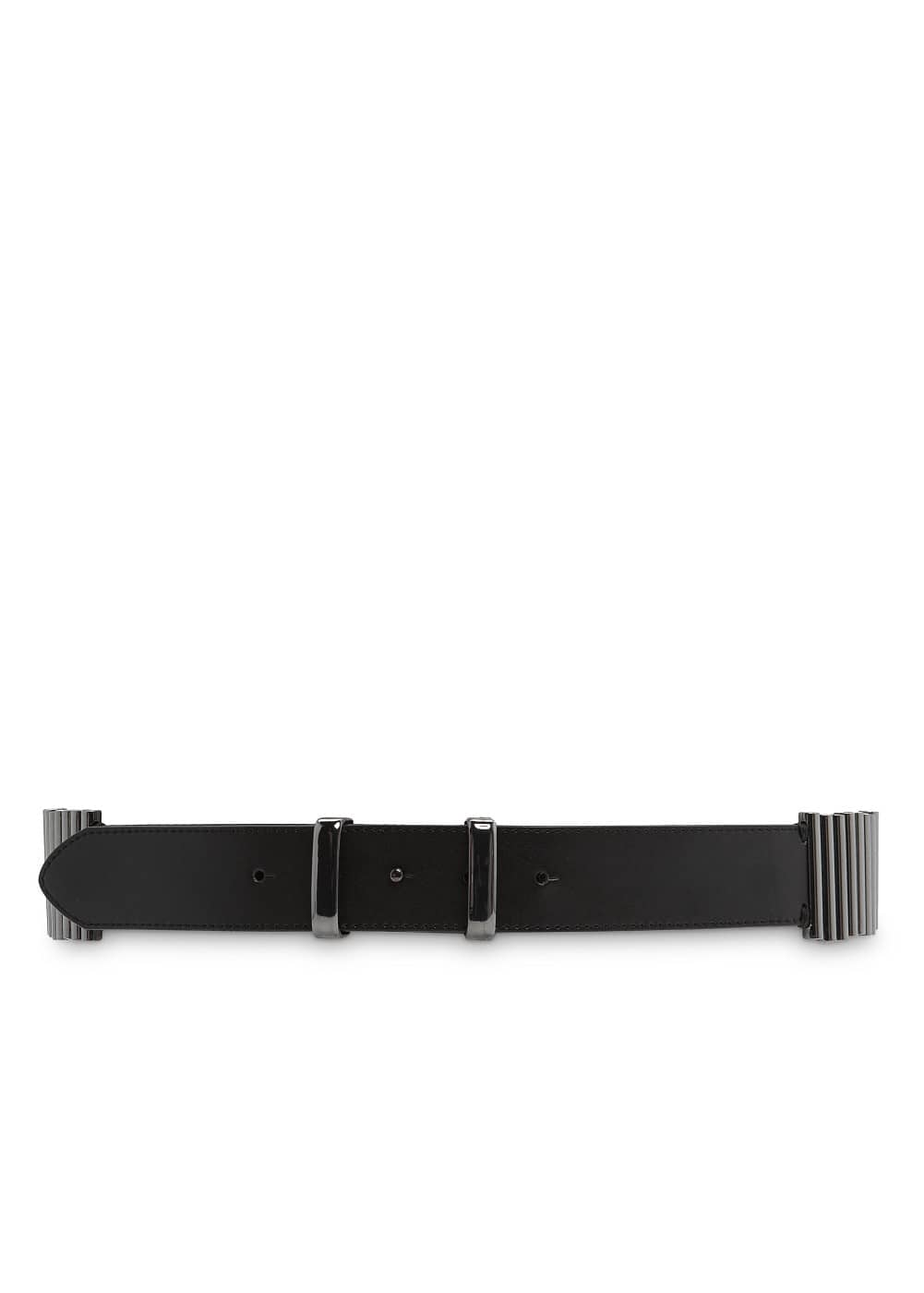 Cylindrical pieces faux leather belt | MANGO