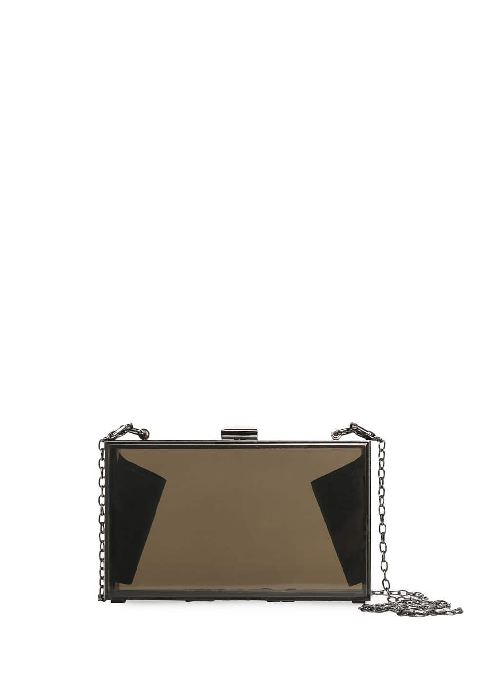Transparent box clutch | MANGO