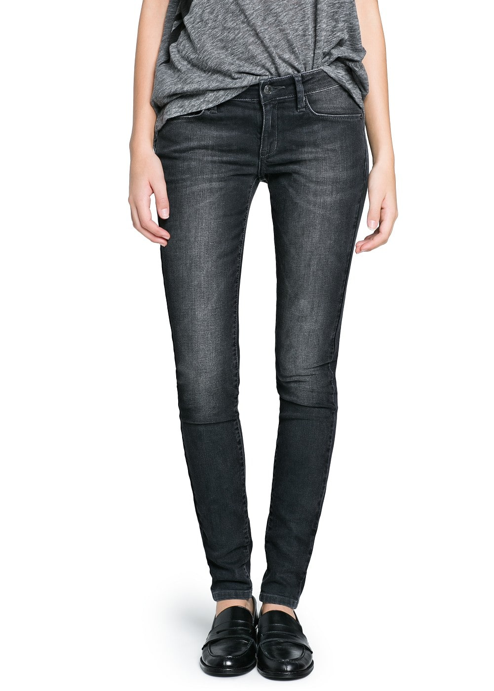 Super slim-fit grey olivia jeans | MANGO