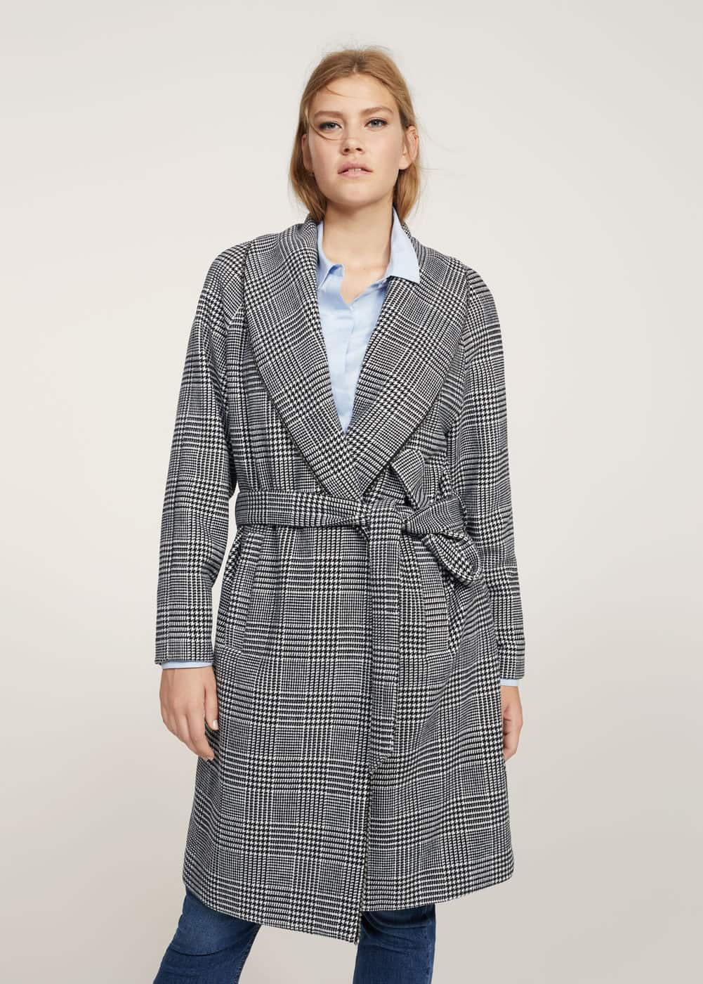 Prince of wales coat | VIOLETA BY MANGO