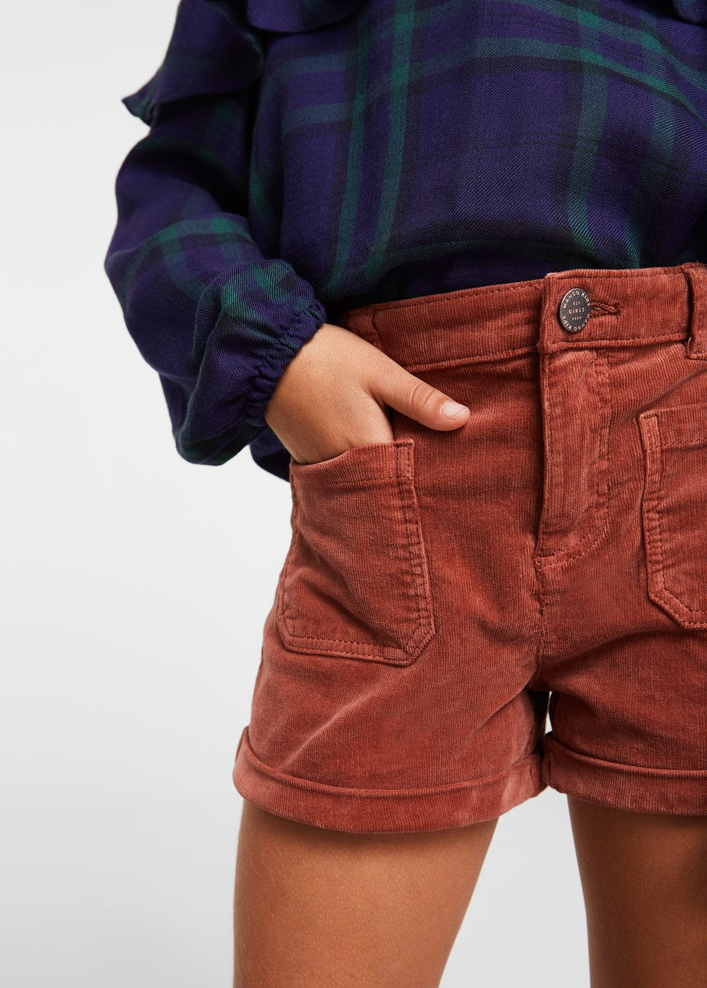 Pocketed corduroy shorts | MANGO