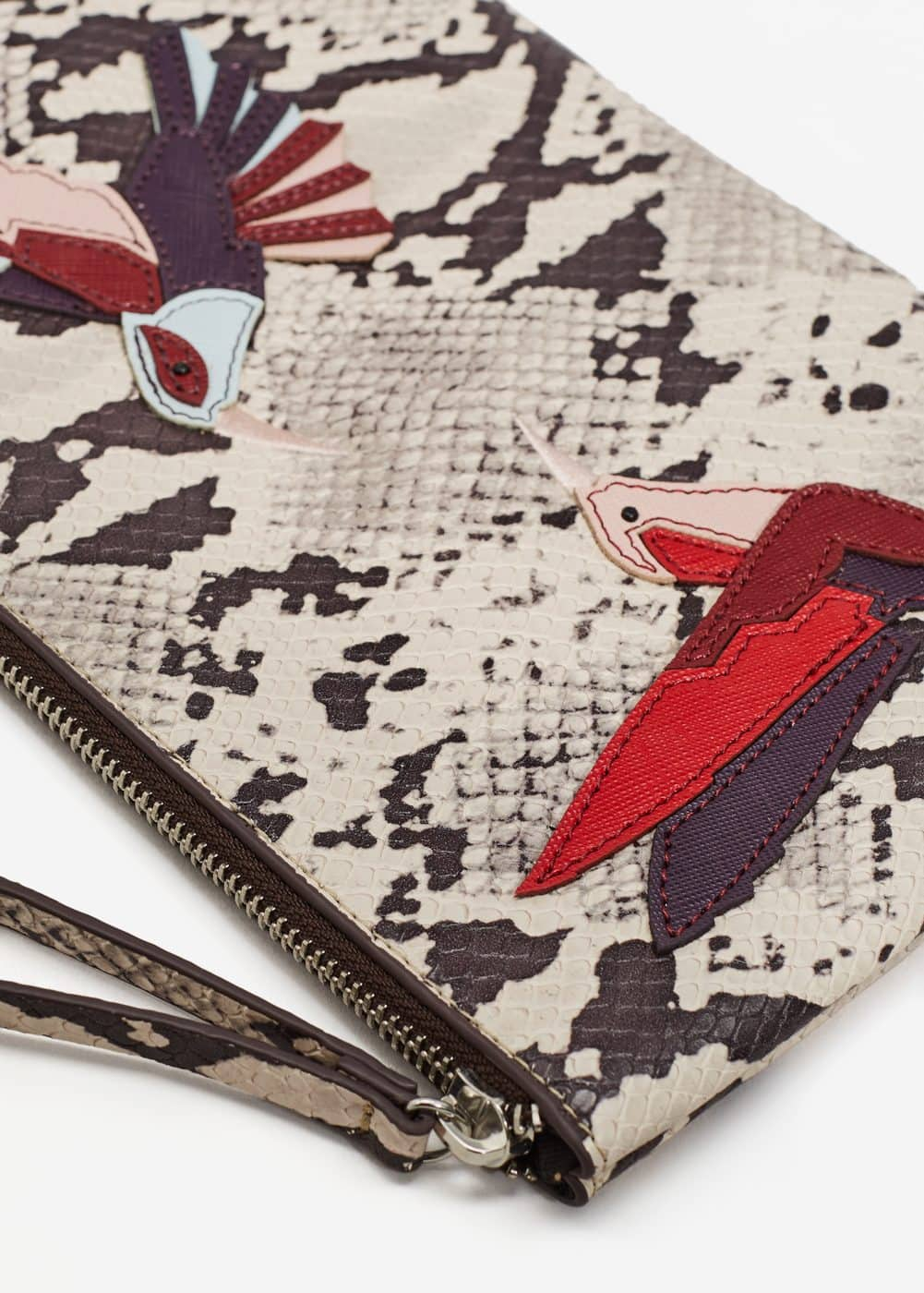Embroidery snake-effect bag | MANGO
