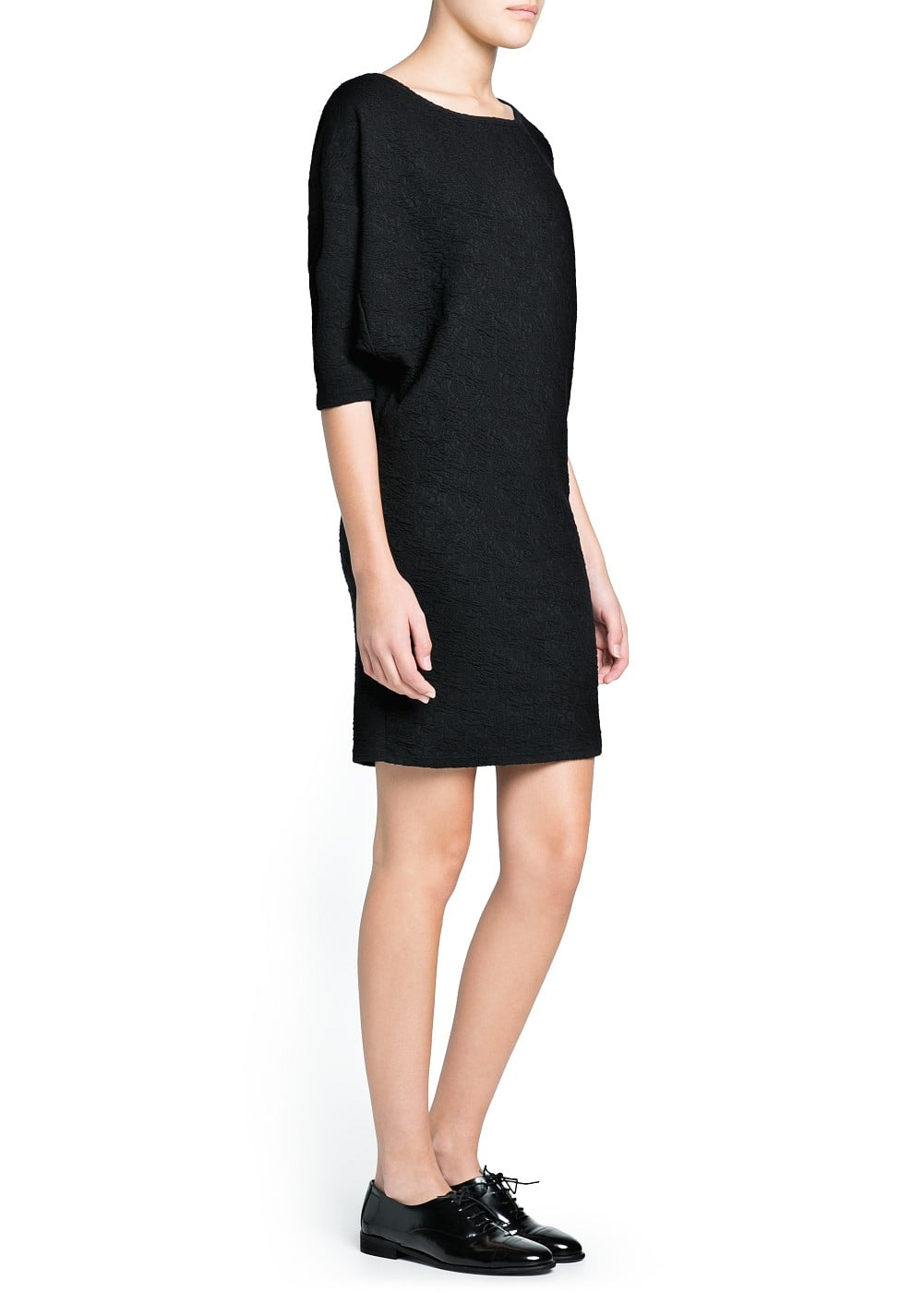 Loose-fit textured dress | MANGO