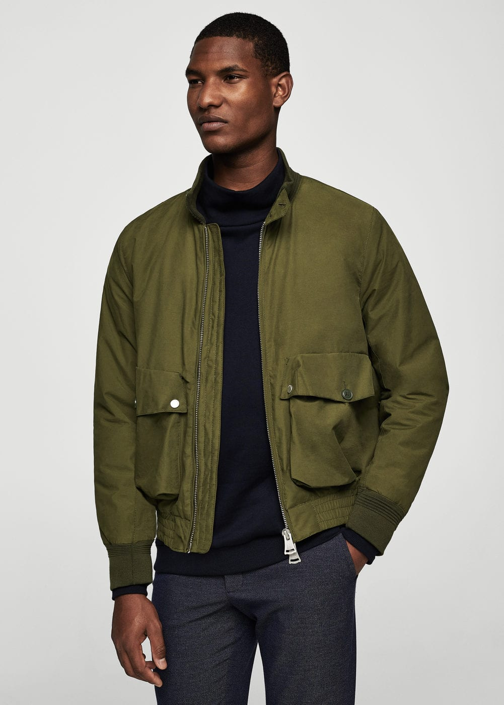 Pocket cotton jacket | MANGO MAN