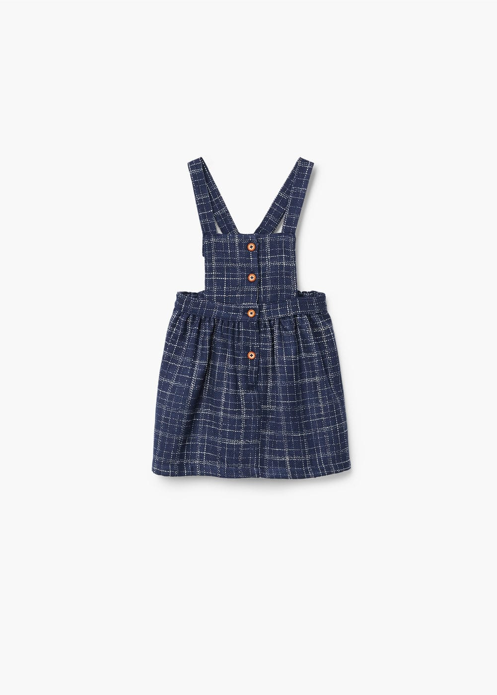Textured checked pinafore dress | MANGO