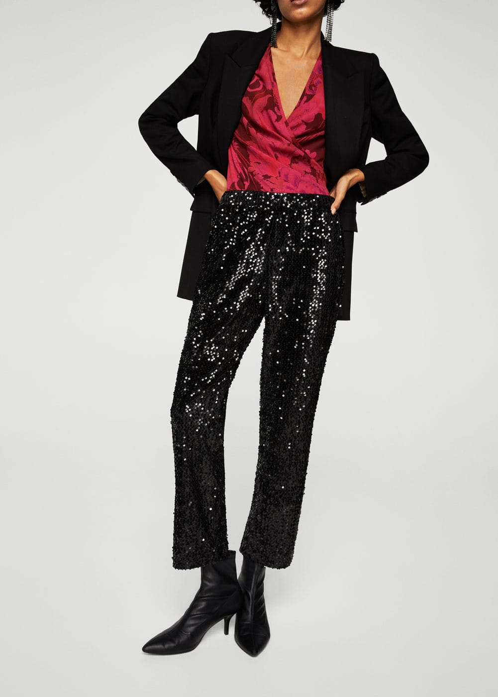 Sequined trousers | MANGO