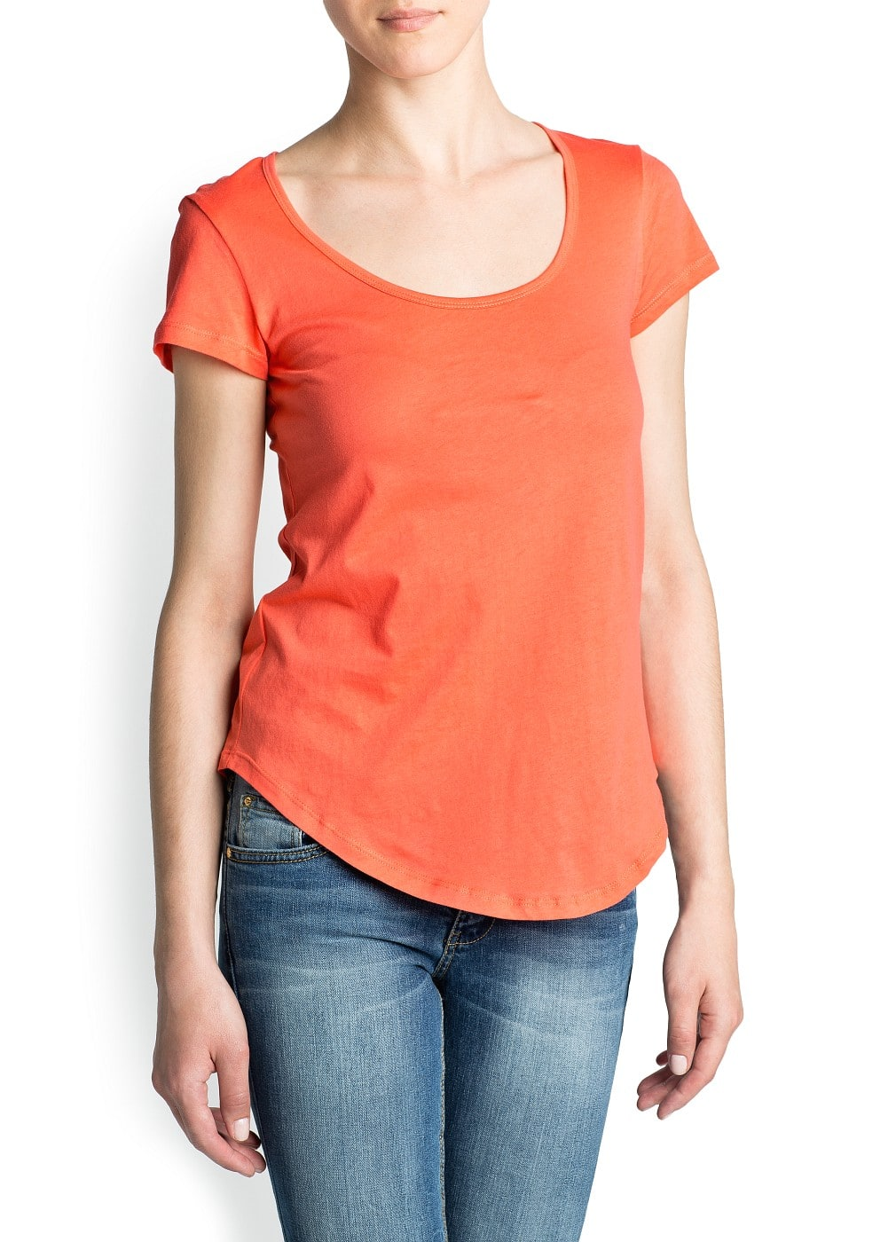 Essential cotton t-shirt | MANGO