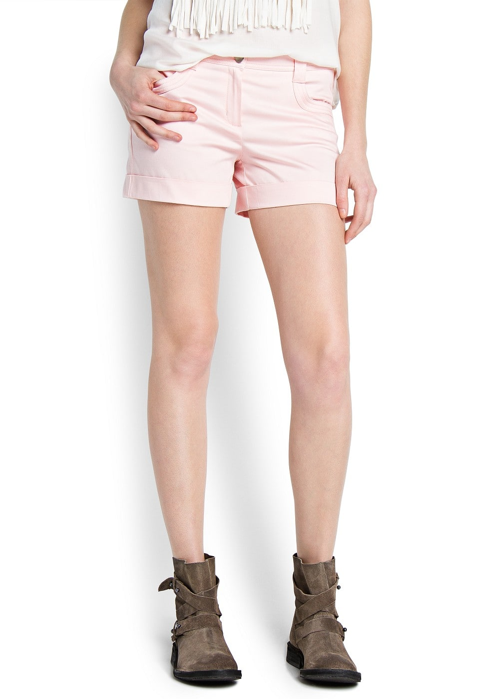 Rolled-up hem shorts | MNG