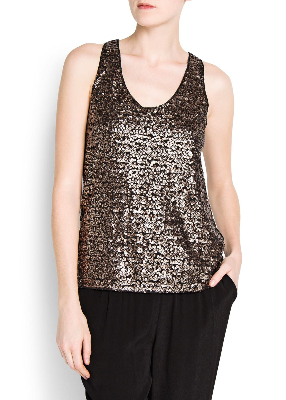 Sequined top | MANGO