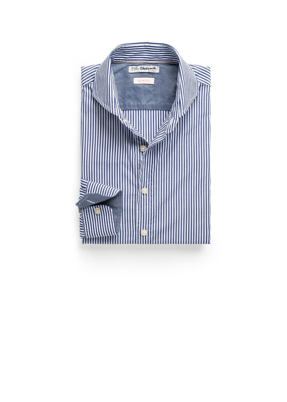 Slim-fit bengal stripe shirt | MANGO