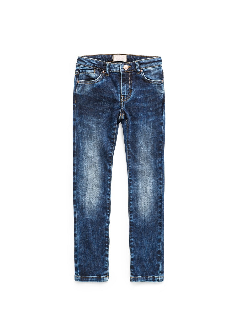 Medium wash distressed jeans | MANGO KIDS