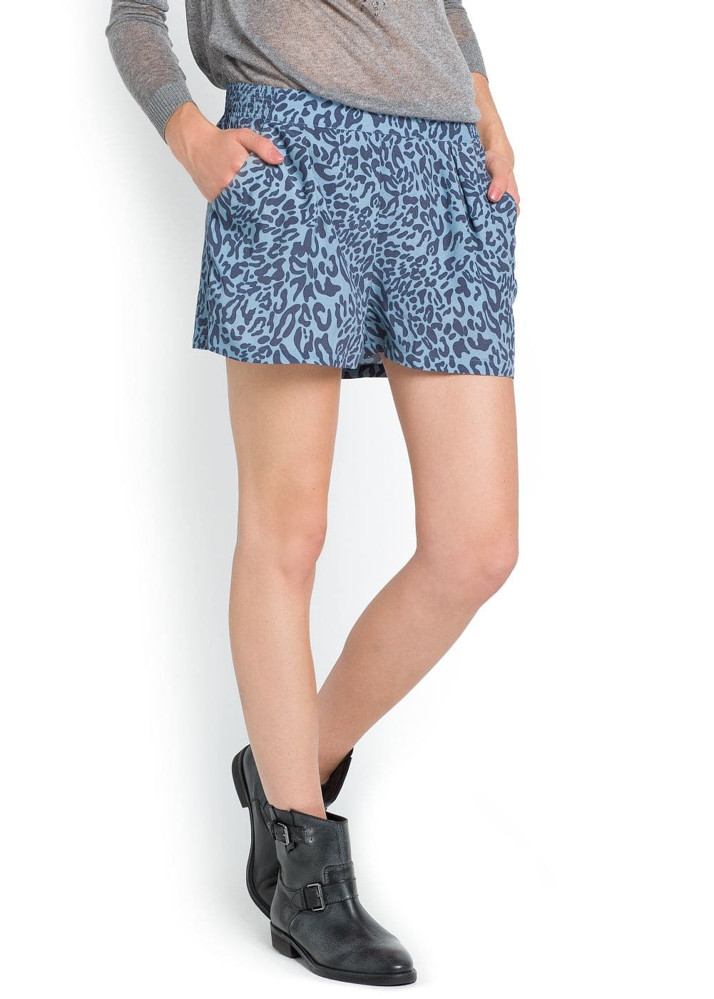 Leopard print flowing shorts | MNG
