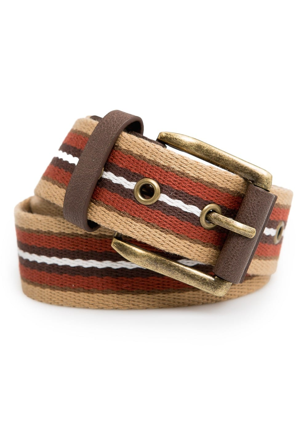 Striped canvas belt | MANGO MAN