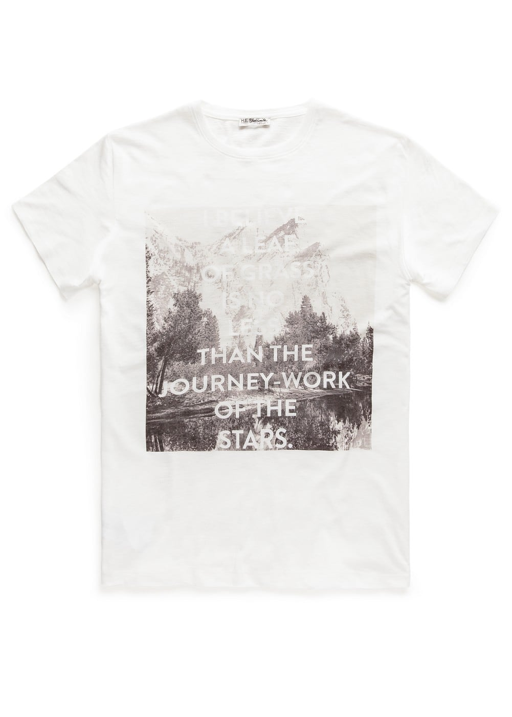 Lake-print t-shirt | MANGO MAN
