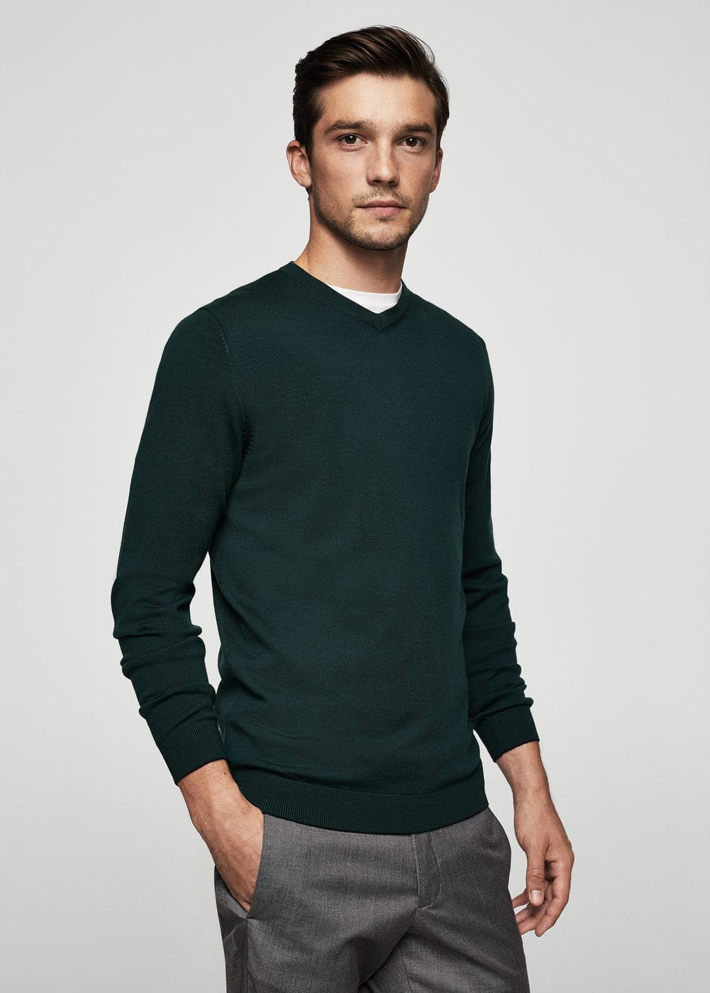 Wool-blend knit sweater | MANGO