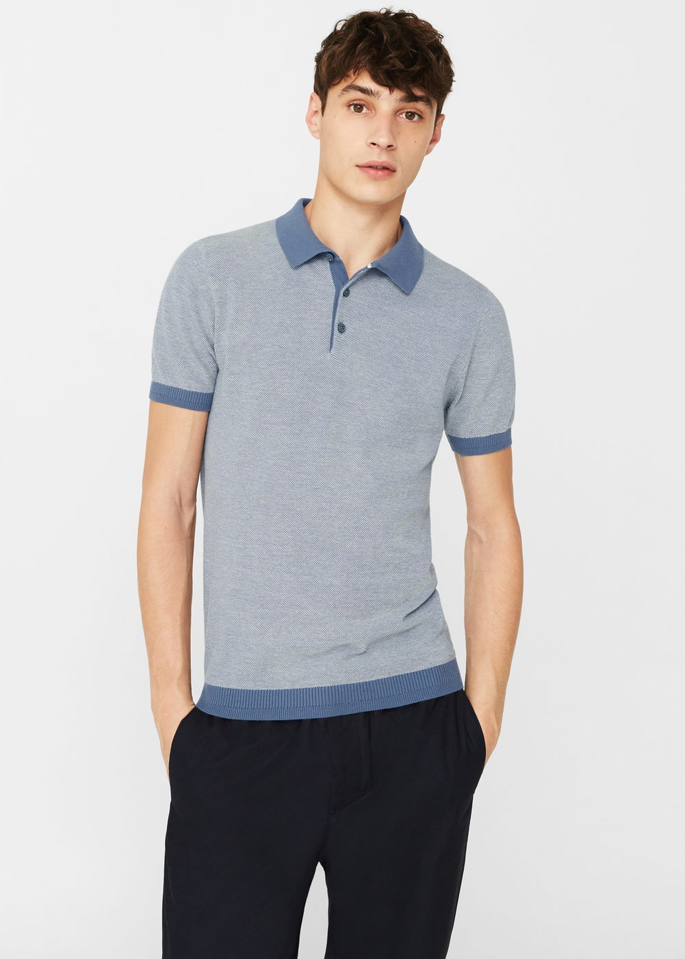 Cotton piqué polo shirt | MANGO