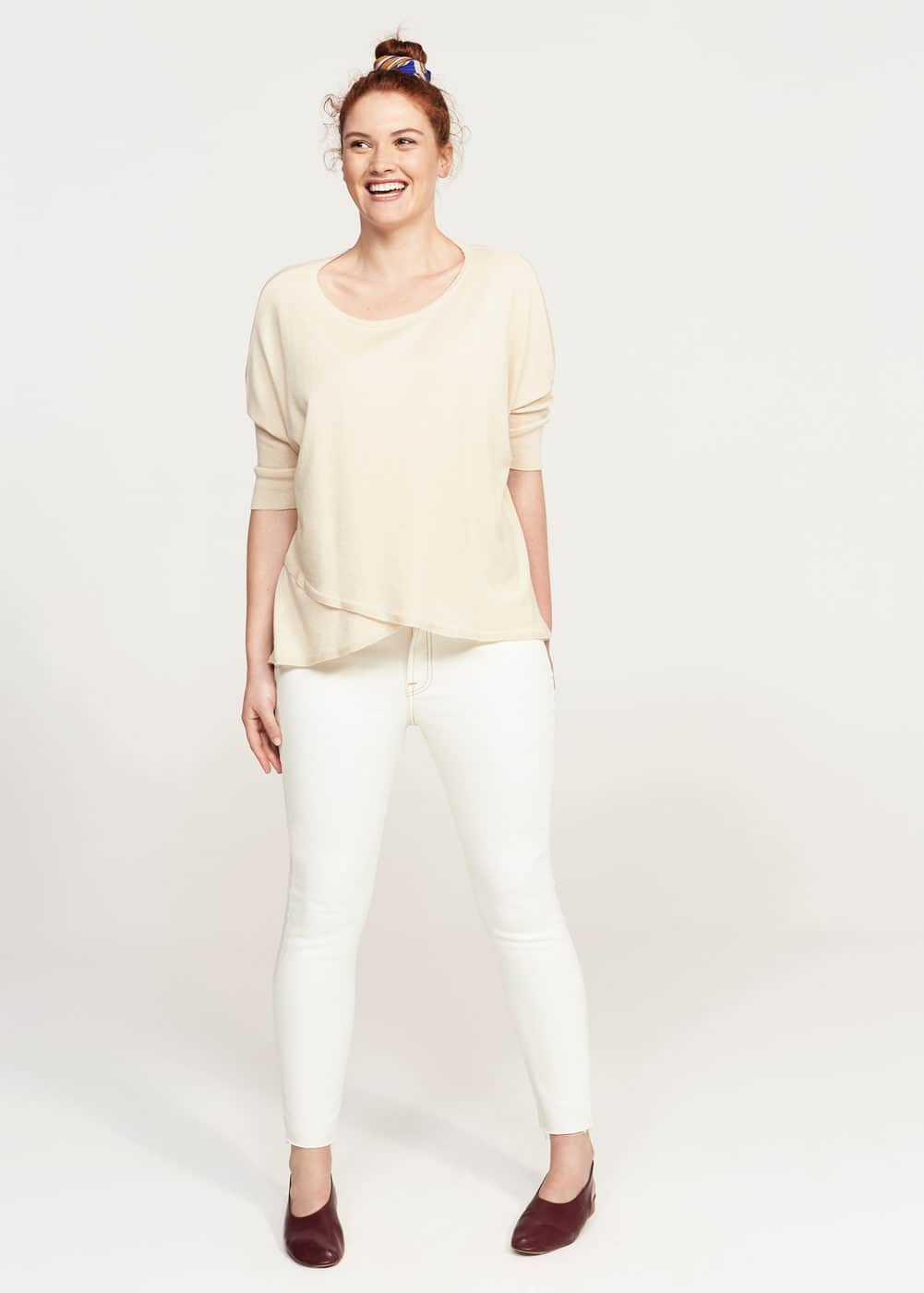 Cotton linen-blend sweater | VIOLETA BY MNG