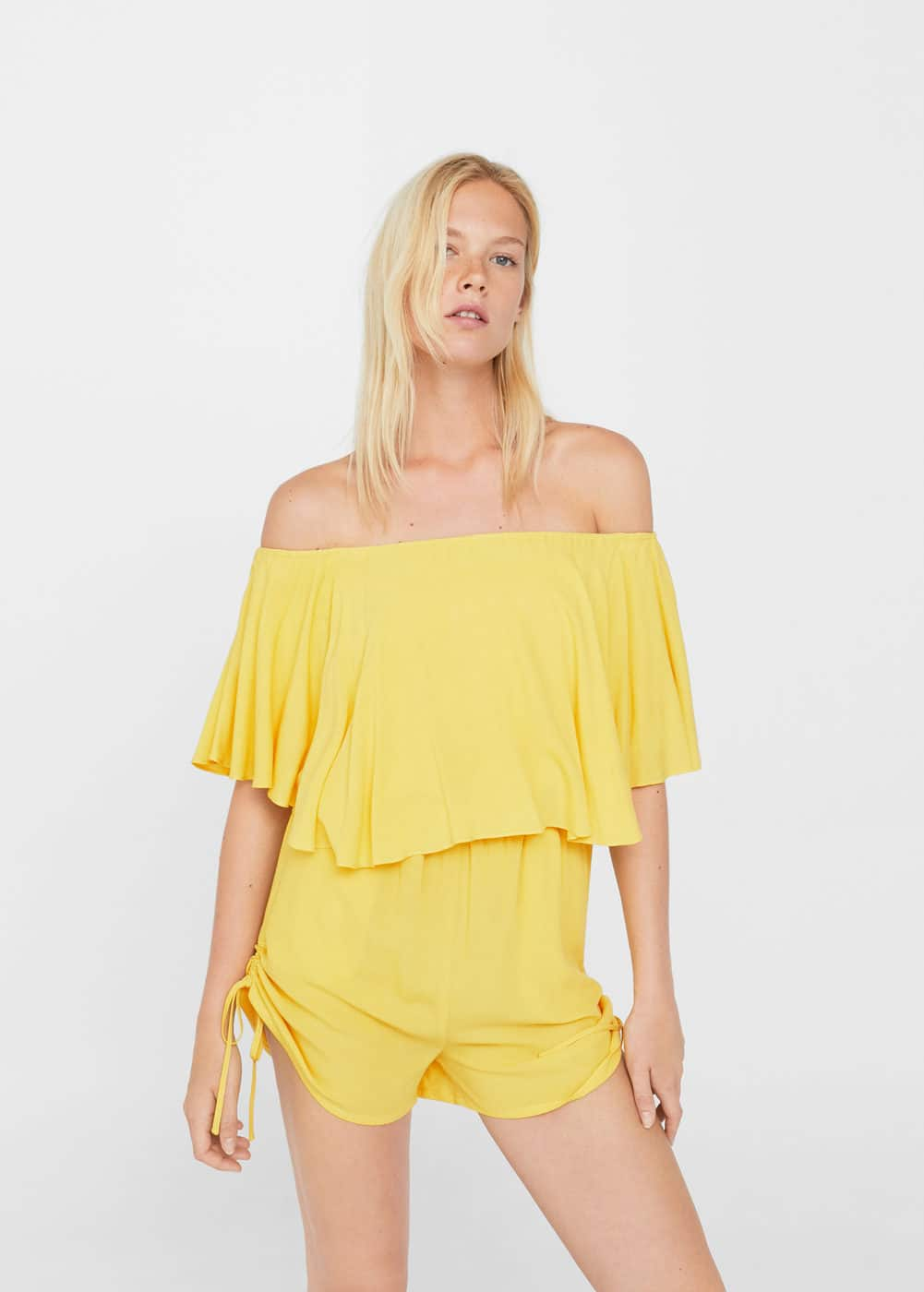 Abito a tuta off-shoulder | MANGO