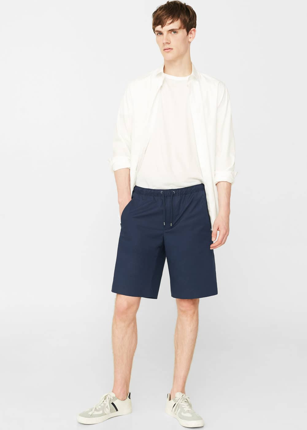 Stretch cotton bermuda shorts | MANGO