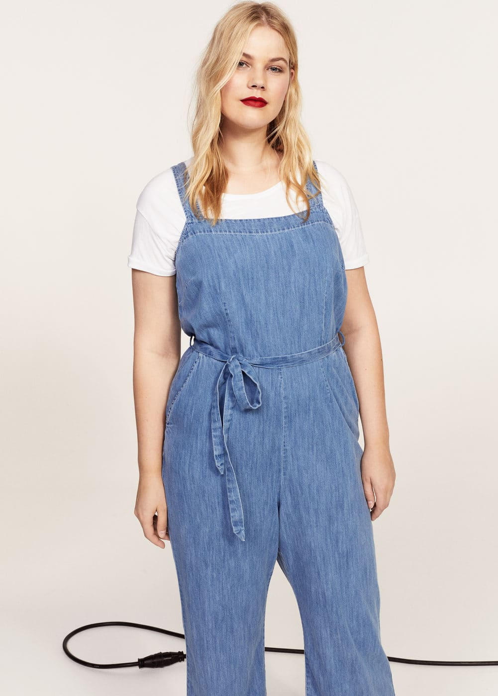 Medium denim jumpsuit | VIOLETA BY MANGO
