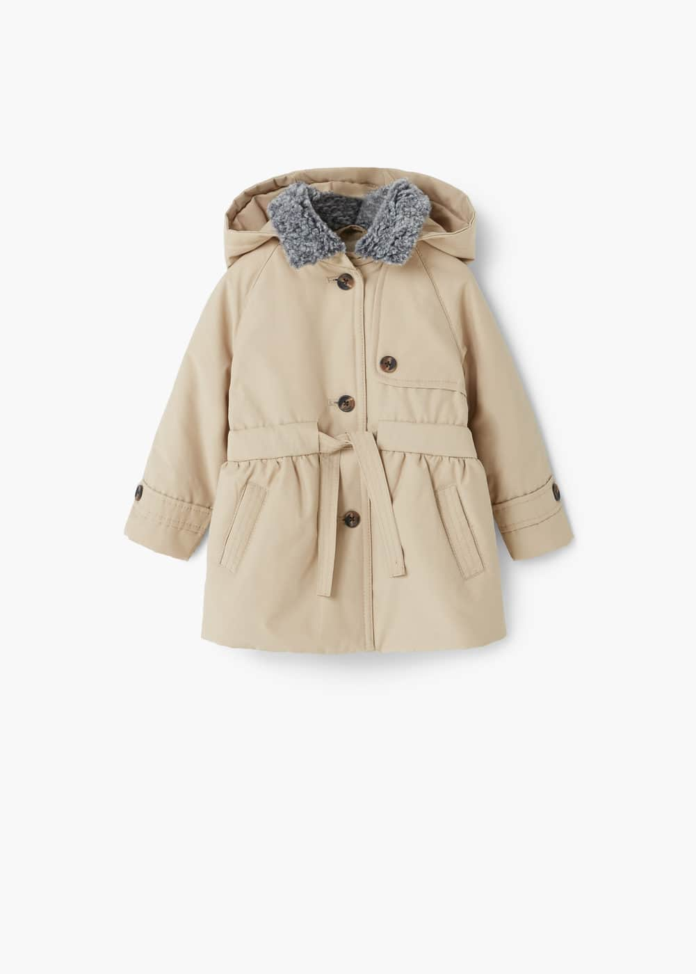 Detachable hood parka | MANGO