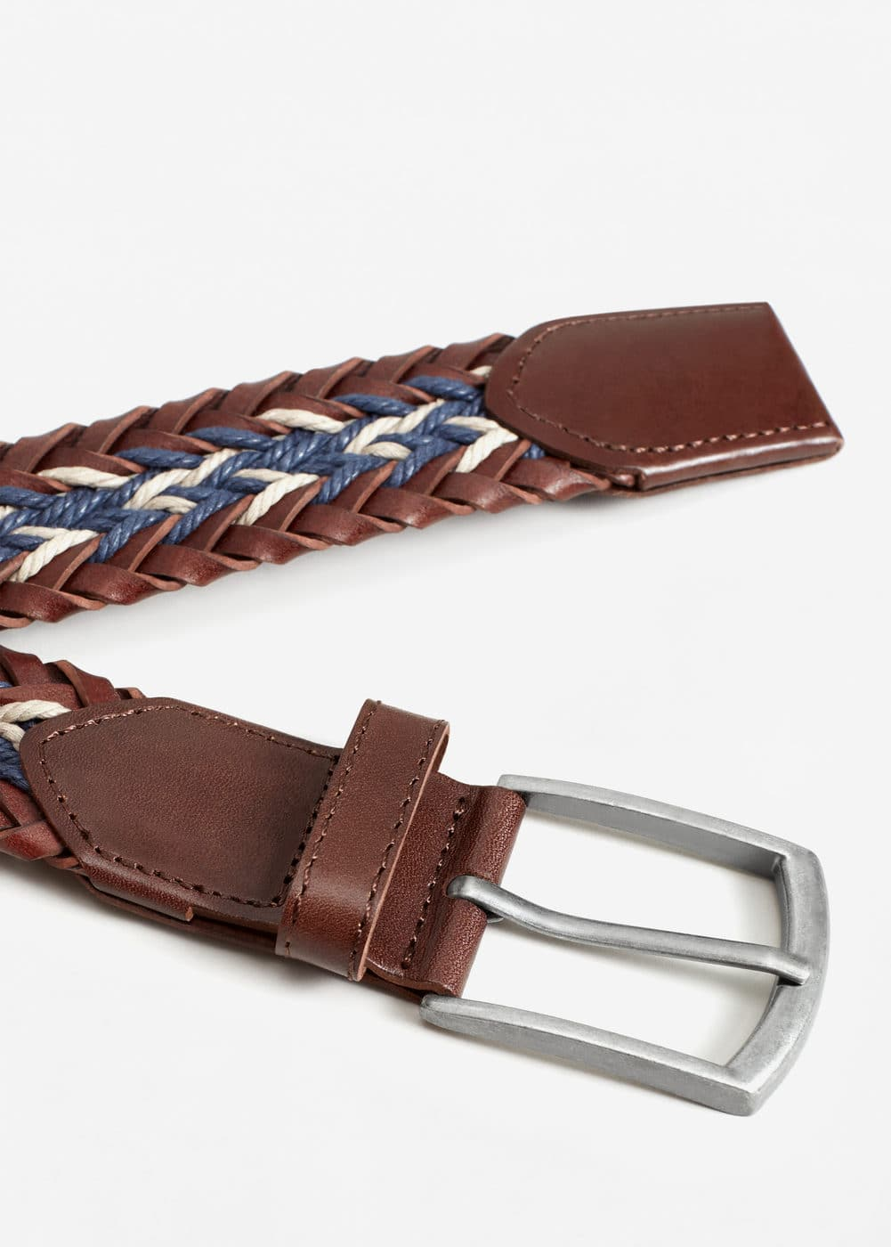 Braided leather belt | MANGO