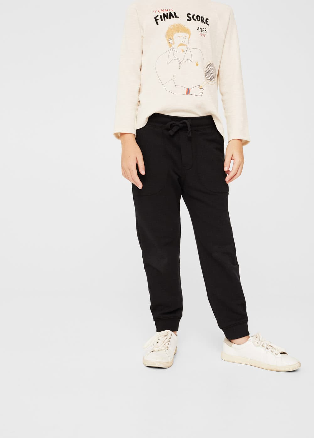 Textured jogging trousers | MANGO