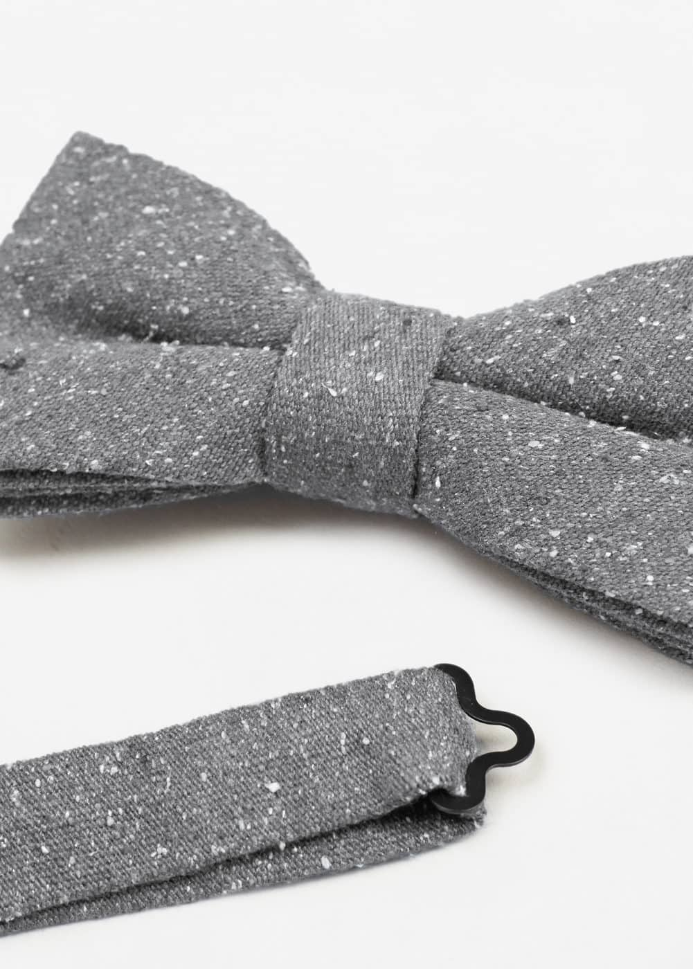 Textured silk bow tie | MANGO MAN